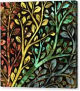 Gemstone Tree With Golden Decor Canvas Print
