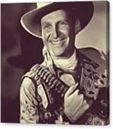 Gene Autry, Vintage Actor/singer Canvas Print