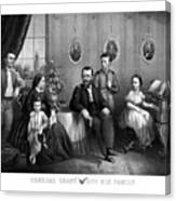 General Grant And His Family Canvas Print