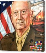 General Mattis Portrait Canvas Print