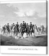 General Sherman At Savannah Canvas Print
