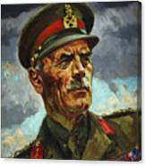 General Sir Alan Cunningham Canvas Print