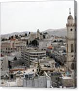 General View Of Bethlehem 2009 Canvas Print