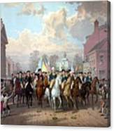 General Washington Enters New York Canvas Print