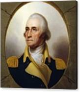 General Washington - Porthole Portrait  Canvas Print