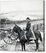 General William T Sherman On Horseback - C 1864 Canvas Print