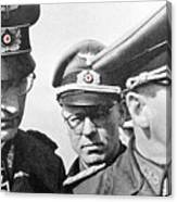 Generalfeldmarschall  Erwin Rommel And Staff Number 1 North Africa 1942 Color Added 2016 Canvas Print