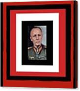 Generalfeldmarschall  Erwin Rommel  In Color Circa 1942 Frames Added 2016 Canvas Print