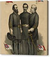 Generals Jackson Beauregard And Lee Canvas Print