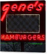 Gene's Hamburgers  Canvas Print