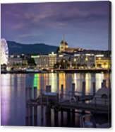 Geneva By Night  Canvas Print