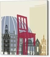 Geneva Skyline Poster Canvas Print