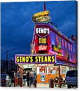 Geno's Steaks South Philly Canvas Print