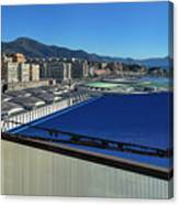 Genova Town Landscape From Abandoned Office Building Roof Canvas Print