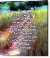 Gentle Journey With Bible Verse Canvas Print