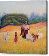 Gentle Shepherdess Canvas Print