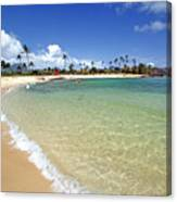 Gentle Wave On A Beach Canvas Print