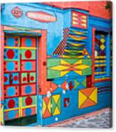 Geometric Art In Burano Canvas Print