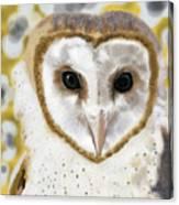 Geometric Barn Owl Canvas Print