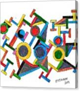Geometric Fun Canvas Print
