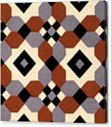 Geometric Textile Design Canvas Print