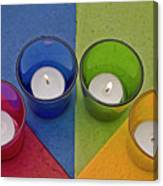 Geometrical Shapes, Colours And Candles Canvas Print