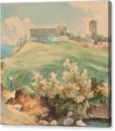 Georg Geyer 1823   Wien   1912   Burg Brandzoll In Tirol Canvas Print