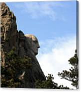 George At Mount Rushmore Canvas Print