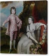 George Capel, Viscount Malden, And Lady Elizabeth Capel Canvas Print