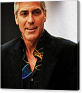George Clooney Painting Canvas Print