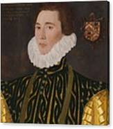 George Gower Portrait Of Thomas Slingsby 1556  1579 1577 Canvas Print