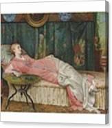 George Hamilton Barrable  Fl  1873  1887  Dolce Far Niente Canvas Print