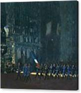 George Luks   Blue Devils On Fifth Avenue   1918 Canvas Print