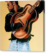 George Michael Painting Canvas Print