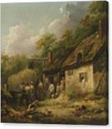 George Morland  The Bell Inn Canvas Print