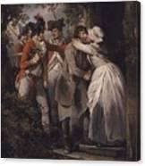 George Morland   The Deserters Farewell Canvas Print