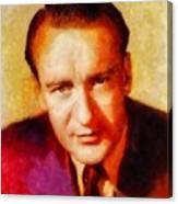 George Sanders, Vintage Hollywood Actor Canvas Print