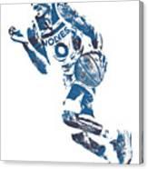 George Teague Minnesota Timberwolves Pixel Art 1 Canvas Print
