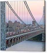 George Washington Bridge And Lighthouse I Canvas Print