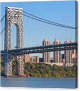 George Washington Bridge And Lighthouse II Canvas Print