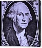 George Washington In Light Purple Canvas Print
