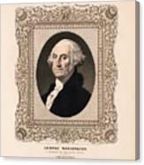 George Washington - Vintage Color Portrait Canvas Print