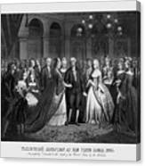 George Washington's Reception At White House - 1776  Canvas Print