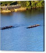 Georgetown Crew On The Potomac? Canvas Print