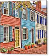 Georgetown Row House Canvas Print