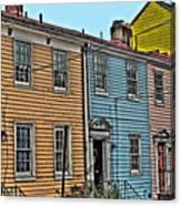 Georgetown Row Canvas Print