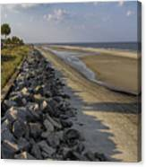 Georgia Atlantic Sea Barrier Canvas Print