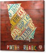 Georgia License Plate Map Canvas Print