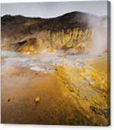 Geothermal Area Canvas Print