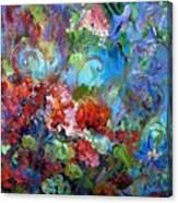 Geranium Garden Canvas Print